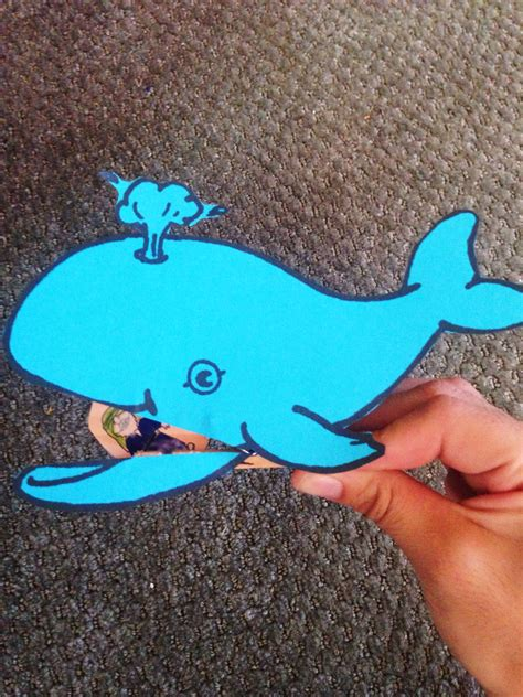 jonah and the big whale bible lesson easy craft 304 | a17276fe7bf6629de0784813411896e8