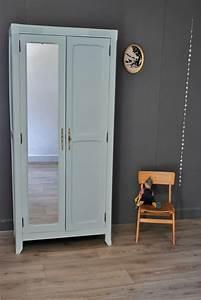Armoire Parisienne Vintage : petite armoire parisienne avec miroir vendue atelier ~ Teatrodelosmanantiales.com Idées de Décoration