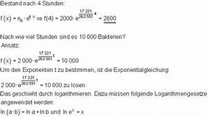 Exponentielles Wachstum Berechnen : anwendungen exponentialfunktionen ~ Themetempest.com Abrechnung