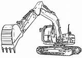 Excavator Coloring Pages Digger Sketch Clipart Bulldozer Print Cat Colouring Diggers Truck Mini Drawing Inspired Futurama Boys Sketches Paintingvalley Entitlementtrap sketch template