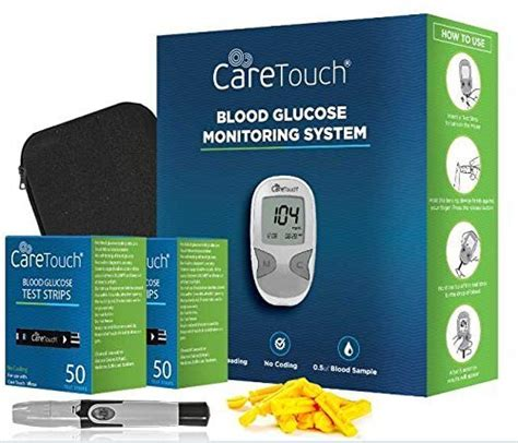 care touch diabetes testing kit blood sugar test machine