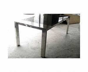 Table En Verre Rectangulaire : table de repas rectangulaire verre et acier sur deco and me ~ Teatrodelosmanantiales.com Idées de Décoration