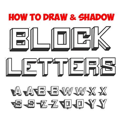 how to draw block letters shading letters archives how to draw step by step 4731