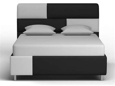 chambre adulte noir et blanc lit adulte 140x190 200cm xamm coloris noir et blanc