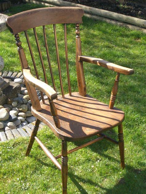 antique farmhouse pine stick back carver chair 270812