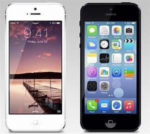 Free Apple iPhone 5 with iOS 7 PSD Mockup - TitanUI