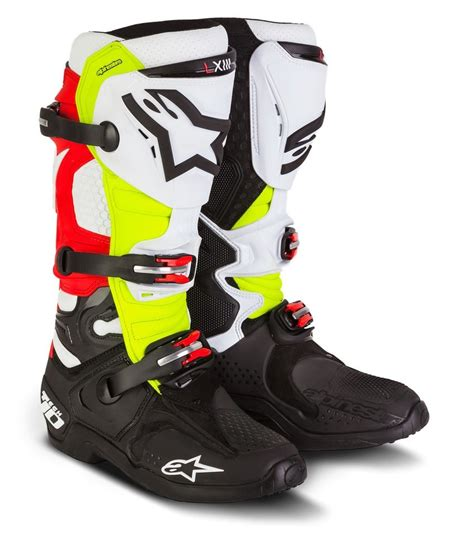 motorcycle gear boots 599 95 alpinestars mens special edition tech 10 trey 203394