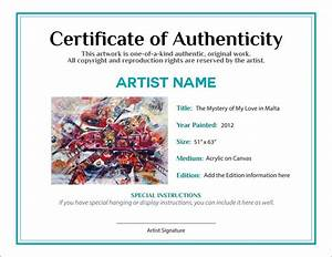 certificate of authenticity template for word choice image With limited edition print certificate of authenticity template