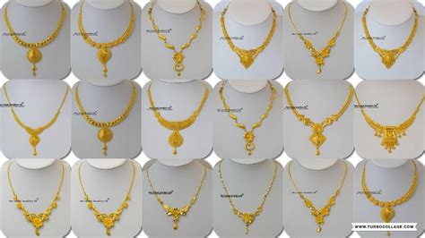 latest light weight gold necklace designs   grams