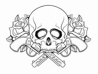 Coloring Skull Pages Adult Adults
