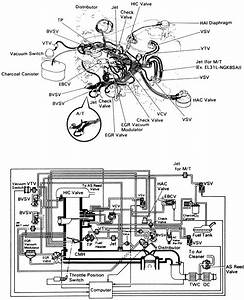 1994 Toyota 22re Vacuum Hose Diagram  1994  Free Engine