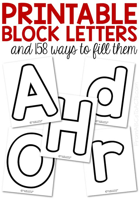 Block Letter Templates by Printable Block Letters And 158 Ways To Fill Them