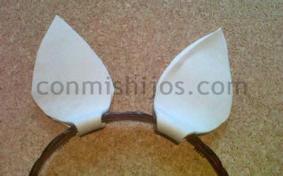 orejas de conejito manualidad de carnaval  hacer  ninos