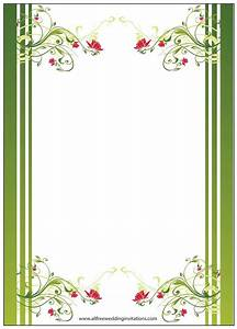 Free wedding borders for invitations mini bridal for Wedding invitation page borders free download