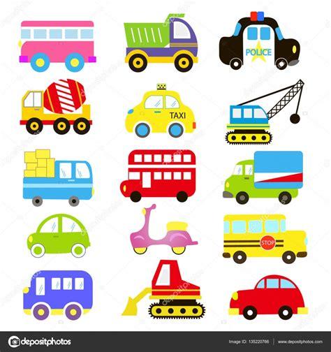 Vector Van Vervoer Thema Met Voertuig, Vrachtwagen, Auto