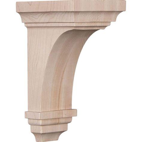 Wood Corbels by Ekena Millwork 4 In X 8 In X 4 3 4 In Maple Small