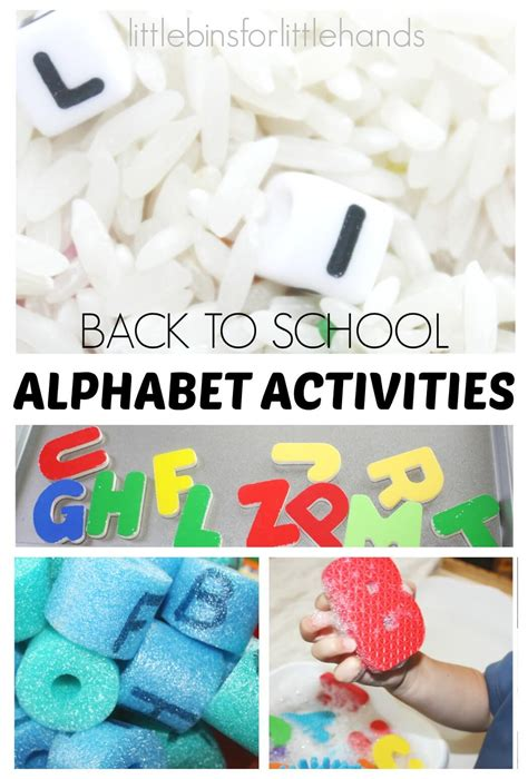 alphabet activities back to school for 782 | Alphabet Activities for Back To School Toddler and Preschool Letter Activities