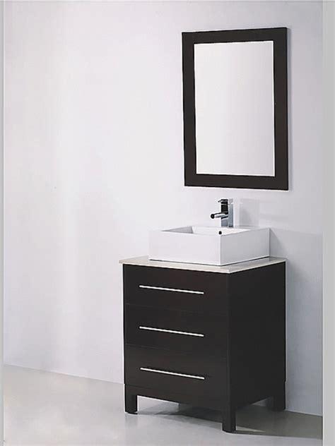 275 inch single sink espresso bathroom vanity with mirror