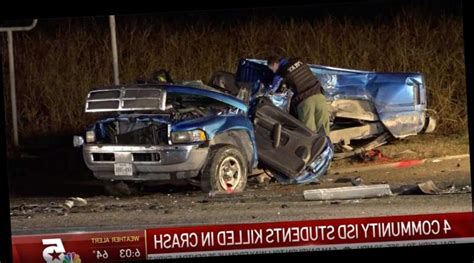 4 High School Students Killed in Texas Car Crash That Also ...