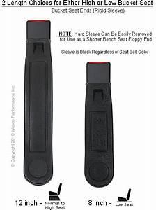 Long Sash Guide 3 Point Retractable Seat Belt End Button