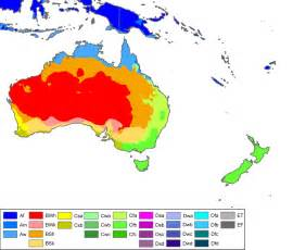 Australia and Oceania Climate Map