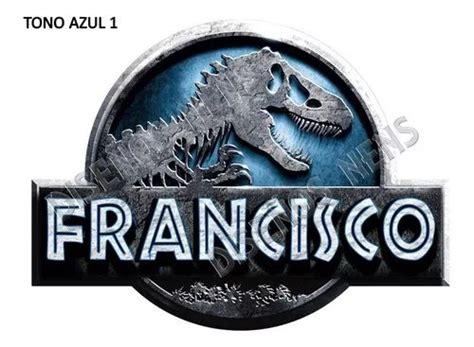 jurassic world park logo personalizado imprimible digital  jurassic world logos
