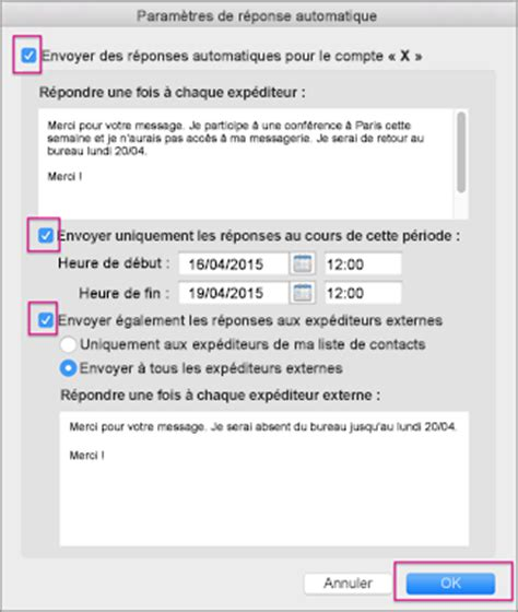 message absence bureau outlook outlook message absence bureau 28 images fonctionnalit