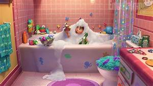 New toy story short partysaurus rex revealed for Monsters inc bathroom scene