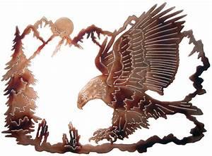 EAGLE WILDLIFE METAL ART RUSTIC CABIN LODGE WALL DECOR eBay