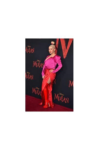 Christina Aguilera Mulan Premiere Hollywood Disney