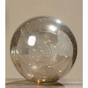 Glas Mit Lichterkette : dekokugel aus glas mit lichterkette bauernsilber 40cm 027758 ~ Yasmunasinghe.com Haus und Dekorationen