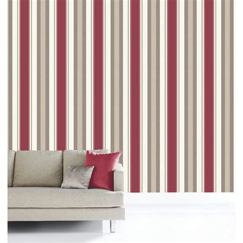 arthouse opera adelphi textured stripe red wallpaper