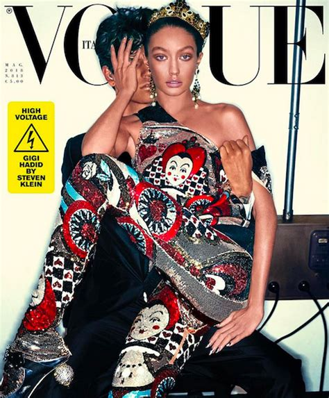 dlisted vogue italias cover   darker gigi hadid isn