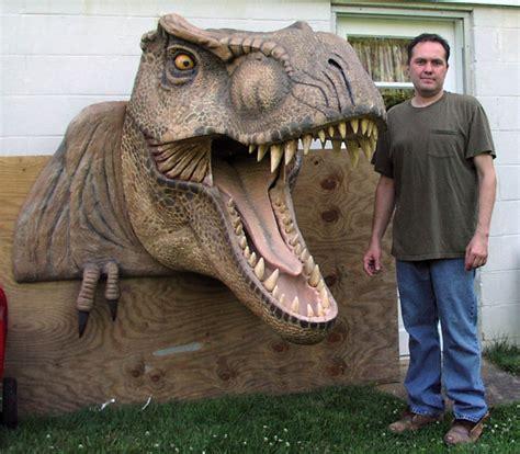 dinosaur head carved  tradeshow universal foam products styrofoam eps foam blocks sheets