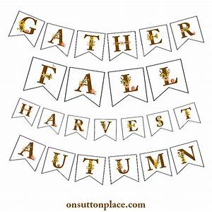 fall floral alphabet printables banners diy wall art With individual letters for banner