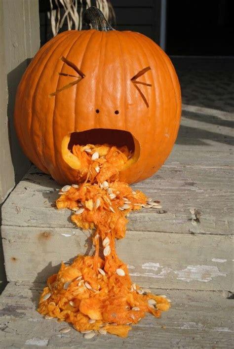 Pumpkin Throwing Up Guacamole by Throw Up Pumpkin Funny Pinterest