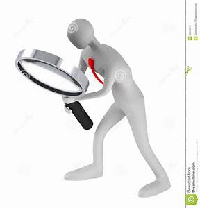 Person Holding A Magnifier Looking For Something Stock ...