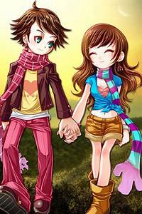 cute couple cartoons wallpapers