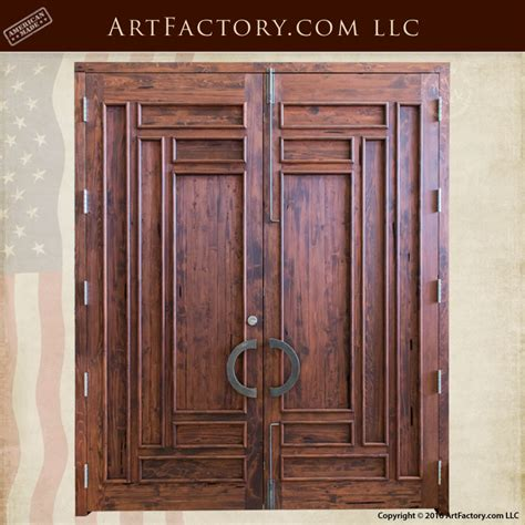slim panel craftsman door solid wood iron hardware