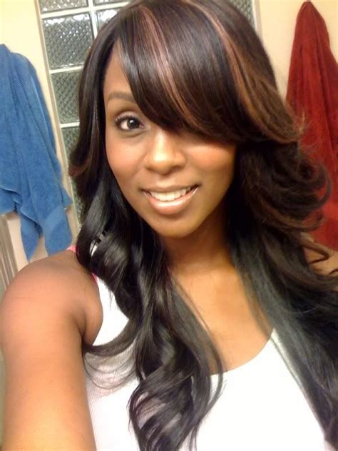 Sew In Hairstyles With Bangs by Pretty Sew In W A Swoop Hairstyles