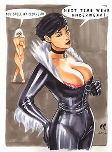 Catwoman Steals Black Cat's Outfit - Chris Foulkes | Comic ...