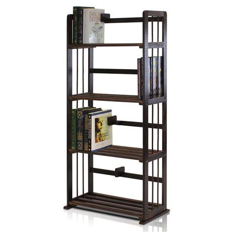 4 shelf open bookcase homesullivan grove place rustic pine open bookcase 403228