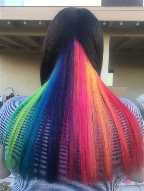 Best 25 Hidden Rainbow Hair Ideas On Pinterest Hidden