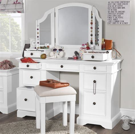 Gainsborough white dressing table set.Dressing table