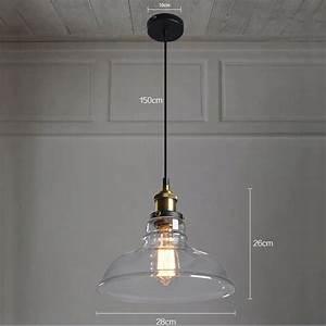Amazon Luminaire Suspension : abat jour en verre style industriel vintage pour lampe abat jour en verre style campagne pour ~ Teatrodelosmanantiales.com Idées de Décoration