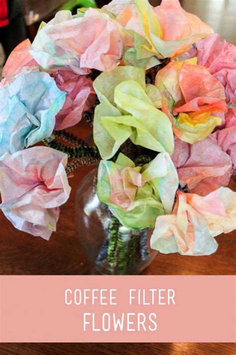 coffee filter flowers preschool colored coffee filter flowers for to make on 984