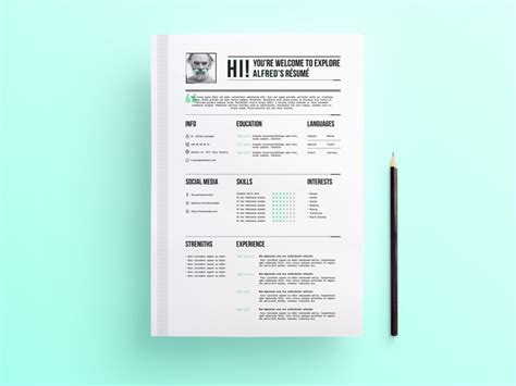 Editable Resume Template Psd by 35 Free Psd Cv Resumes For Creative To Get The