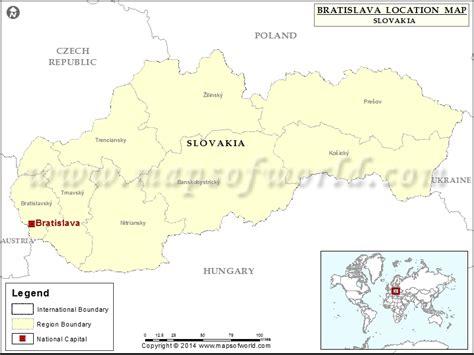 Slovakia Location World Map