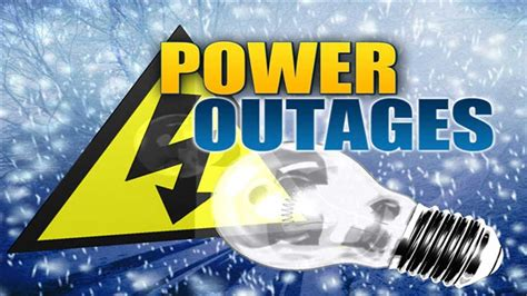 winter weather windy conditions  power outages