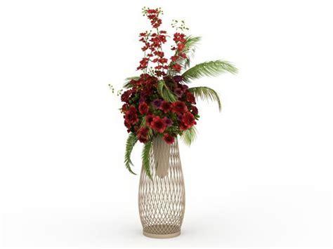 Flower floral arrangements stand 3d model 3ds max files
